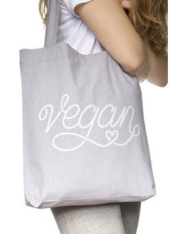 Vegan - Tote Bag - heather grey