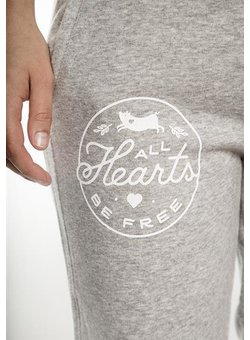All Hearts be Free - Jogginghose - tailliert - heather grey