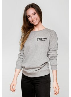 The Future is Vegan Sweater tailliert heather grey