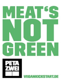 Meats not Green Sticker
