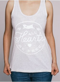 All Hearts Be Free Tank Top tailliert cream heather grey