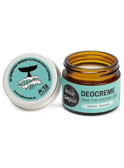 Deocreme Save-The-Oceans 50 g, Limette-Zypresse