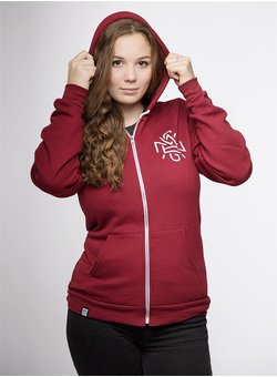 Vegan Youth 2.0 Zipper gerade cranberry