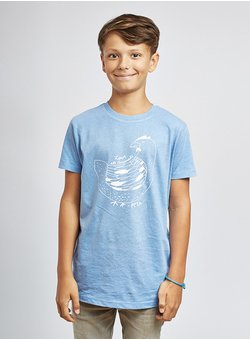 Love all Animals, Huhn - Kids - blau T-Shirt