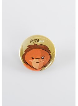 Button PETA Kids Löwe