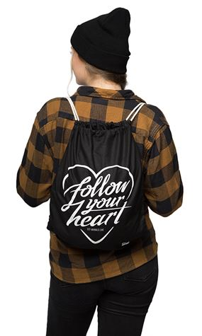 FOLLOW YOUR HEART DRAWSTRING